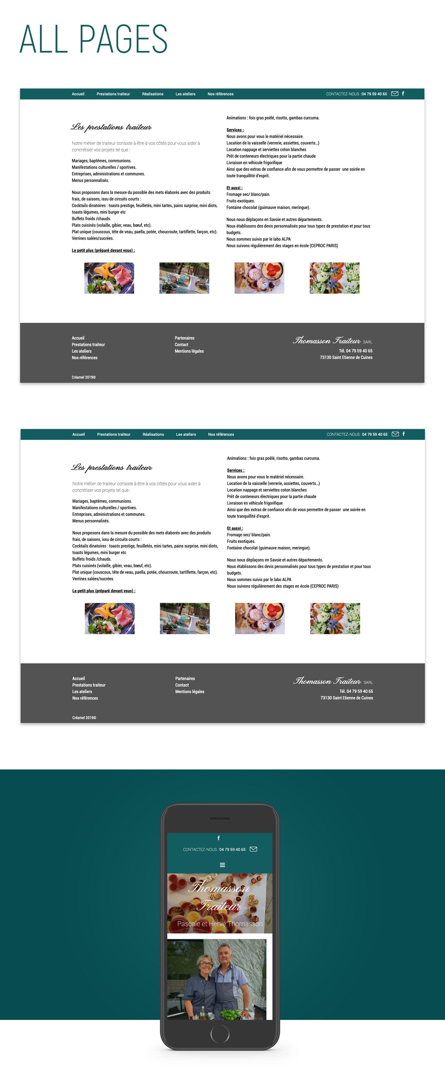 Website Thomasson Traiteur