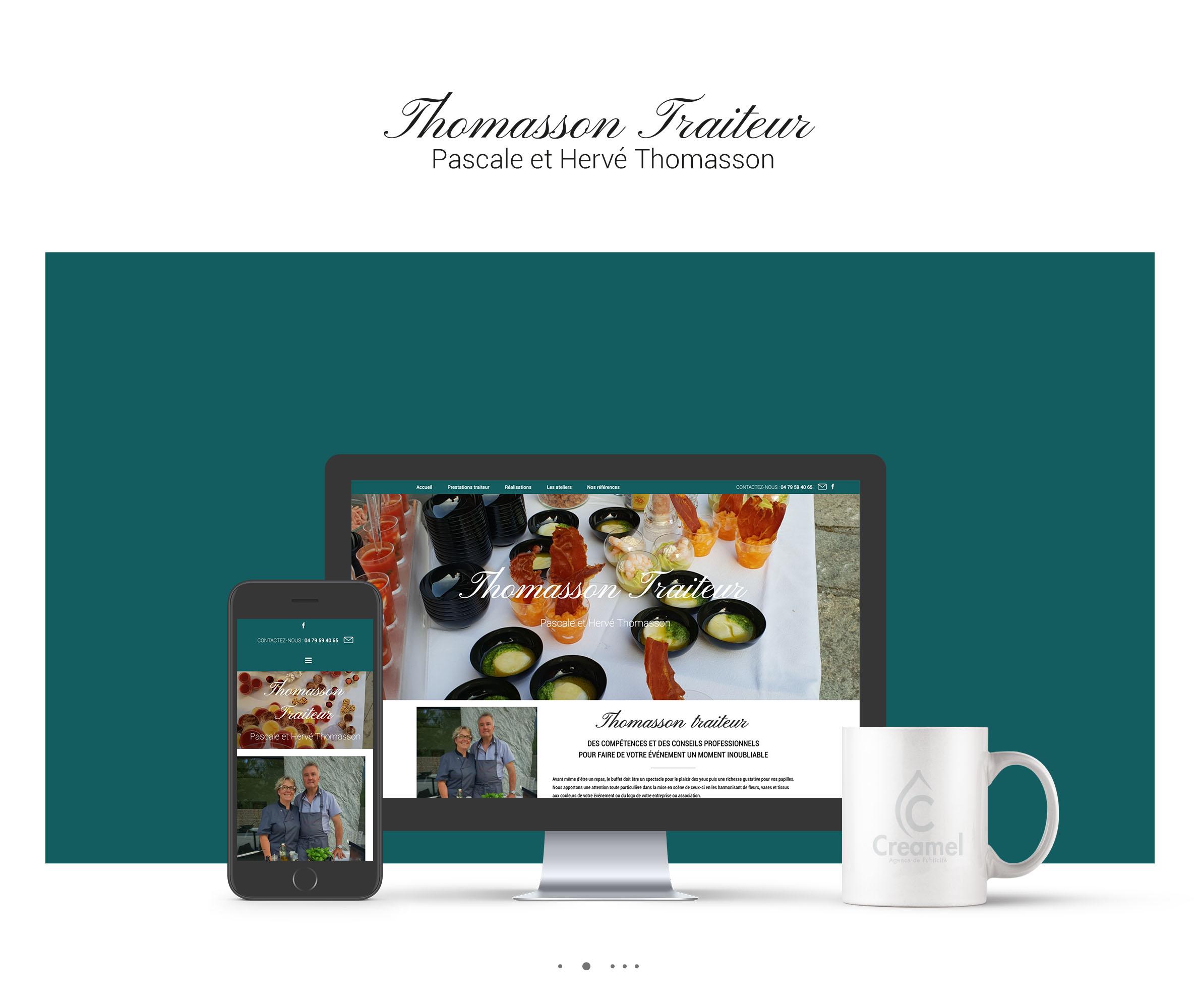 Thomasson Traiteur Webdesign