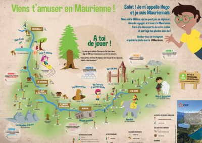 Carte touristique maurienne tourisme