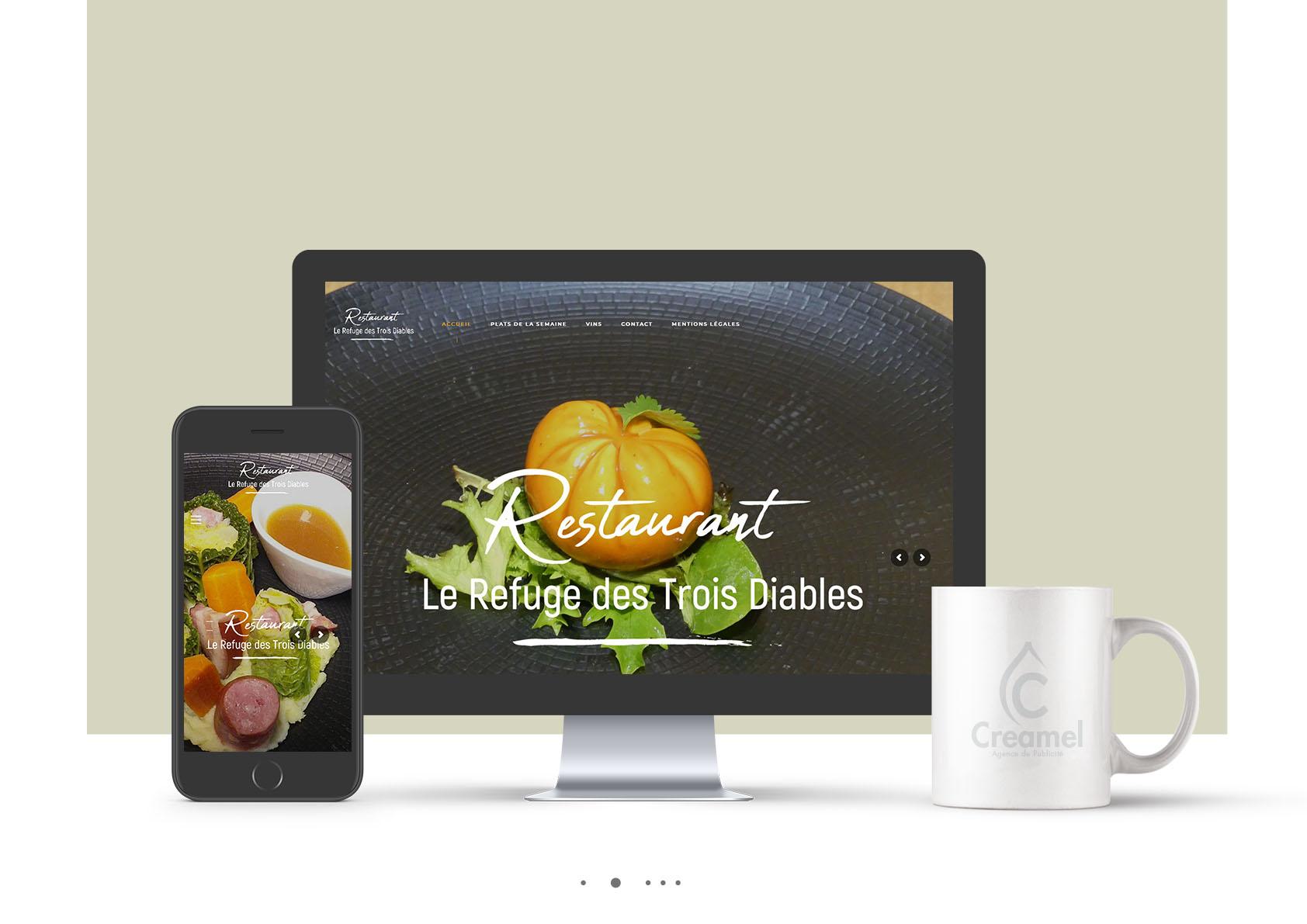 Site click&collect pour le restaurant le refuge