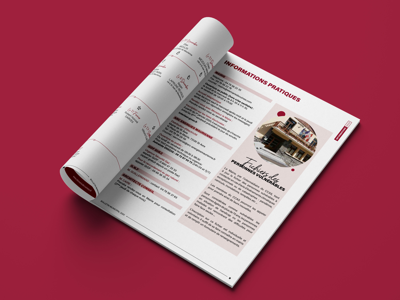 Page intérieur bulletin Municipale Sainte-Marie-de-Cuines