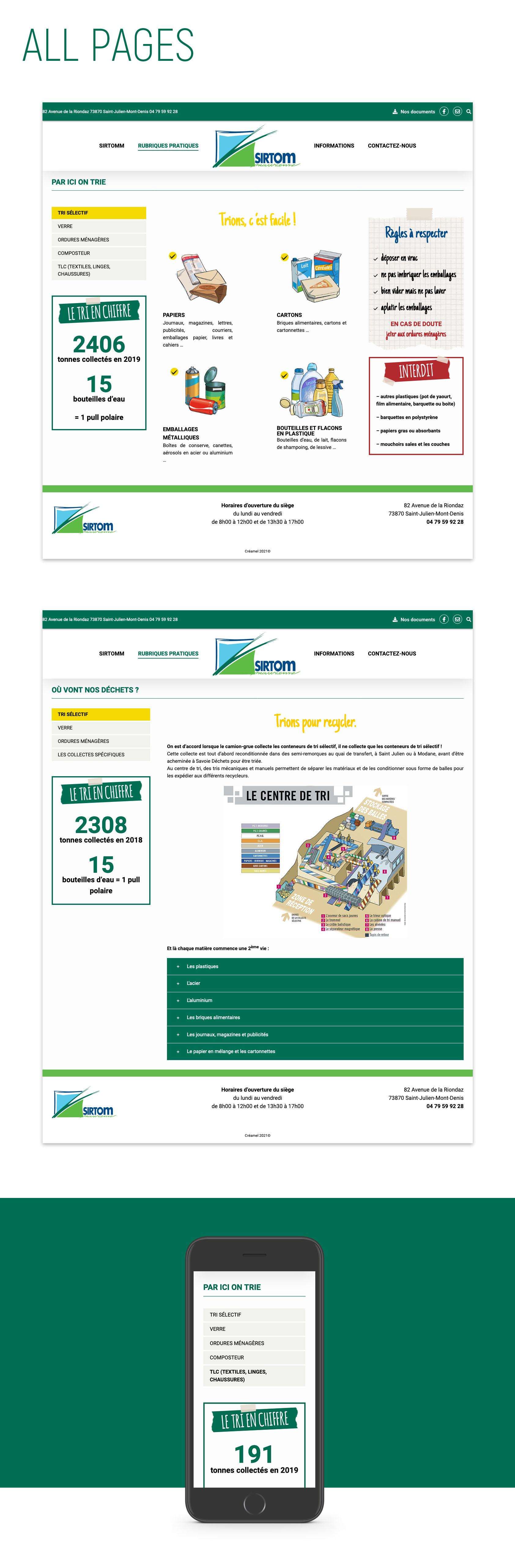 Site internet Sirtom Maurienne
