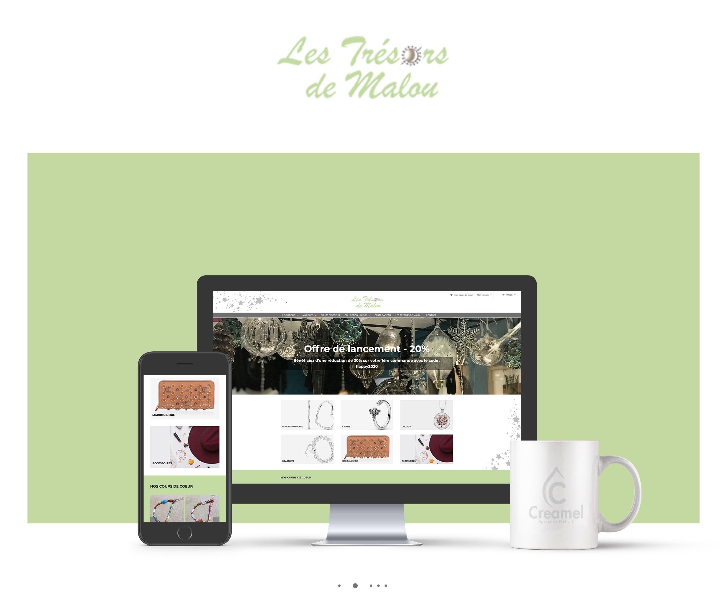 boutique en ligne Trésors de Malou