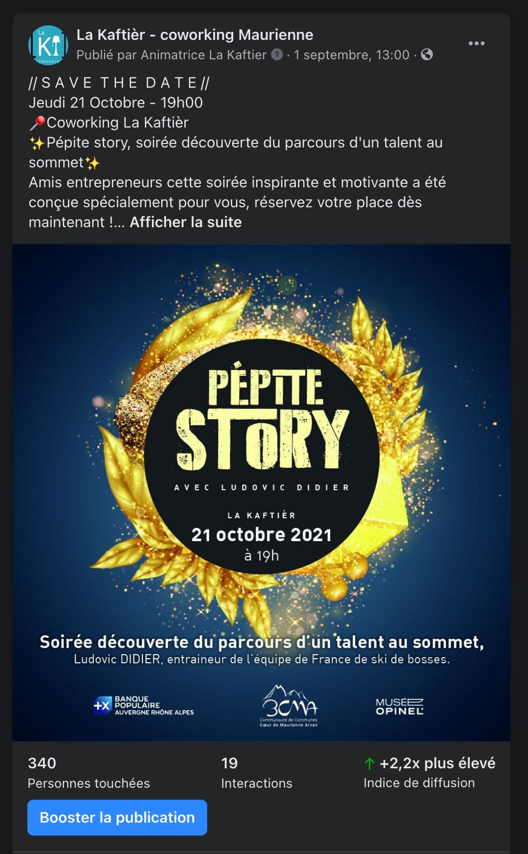 Facebook pepite story
